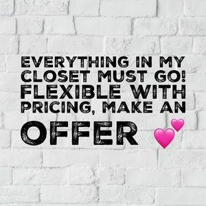 Flexible with pricing 💕